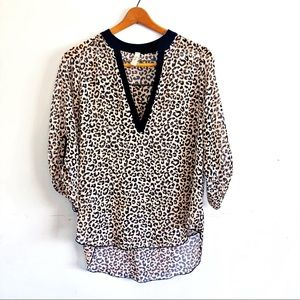 Sheer Women's Animal Print Top